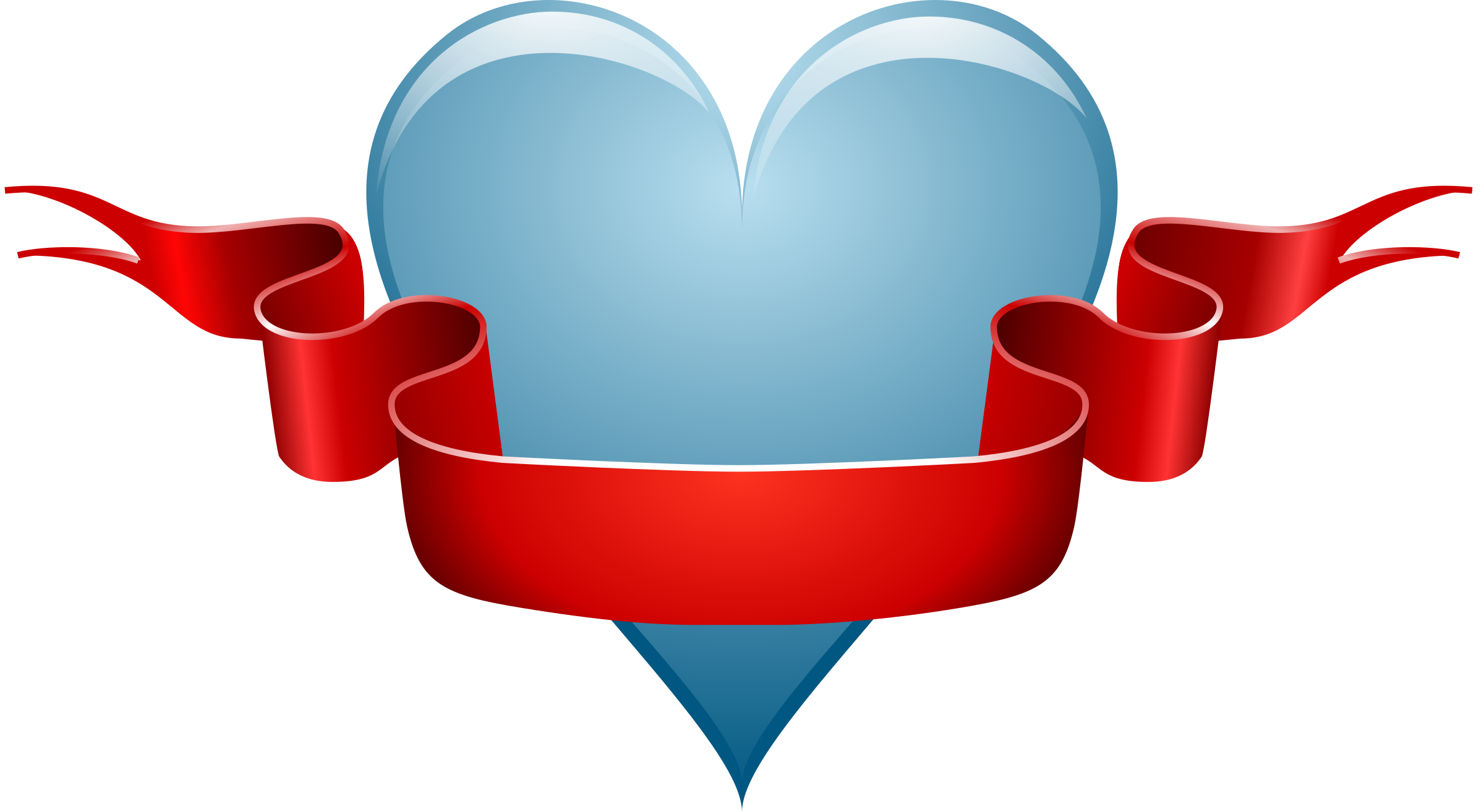 Heart icons png free. Medieval clipart ribbon image library download