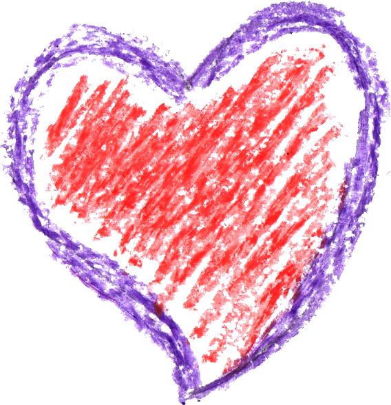 Red crayon png. Heart drawing transparent