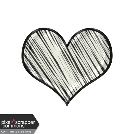 Heart scribble png. Elegant autumn graphic by