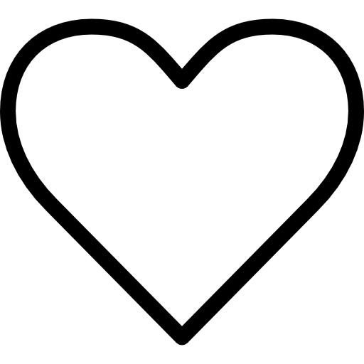 Corazón png love icon. Heart outline shapes hearts