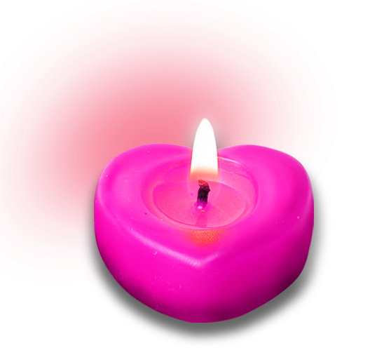 Heart shaped candles png. Candle free creative pull
