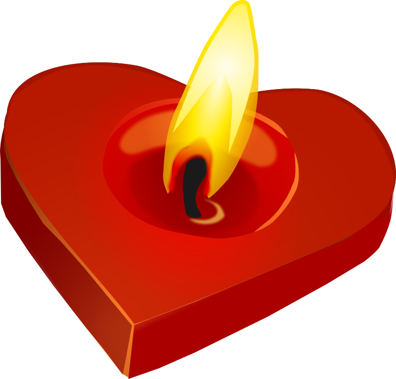 Heart shaped candles png. Collection of romantic