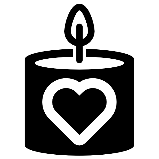 Heart shaped candles png. Candle icon download free