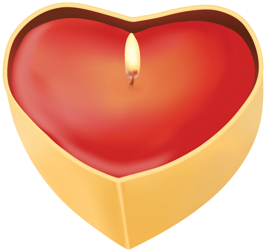 Heart shaped candles png. Candle free images toppng