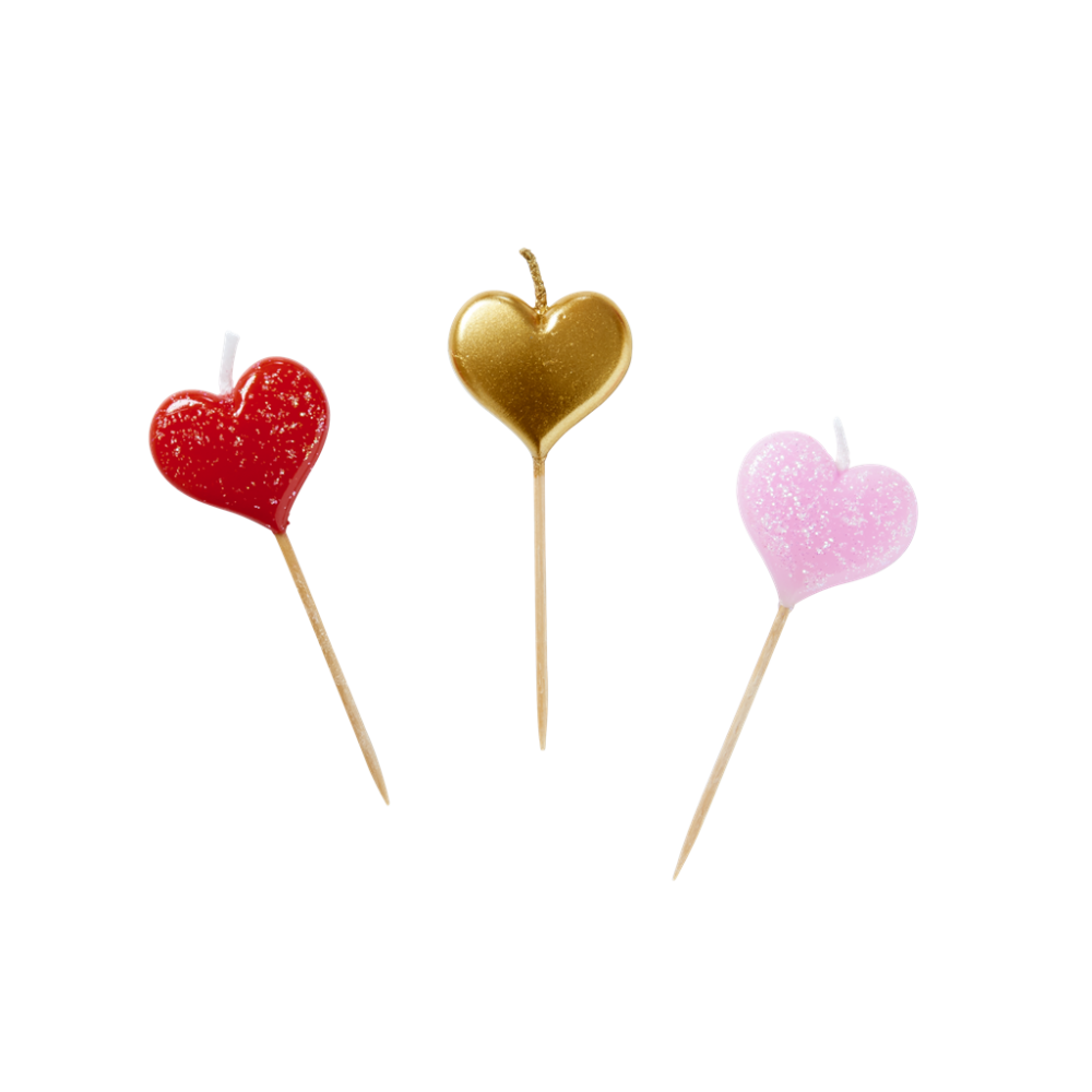 Heart shaped candles png. Set of cake by