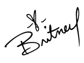 Heart signature png. La land britney spears