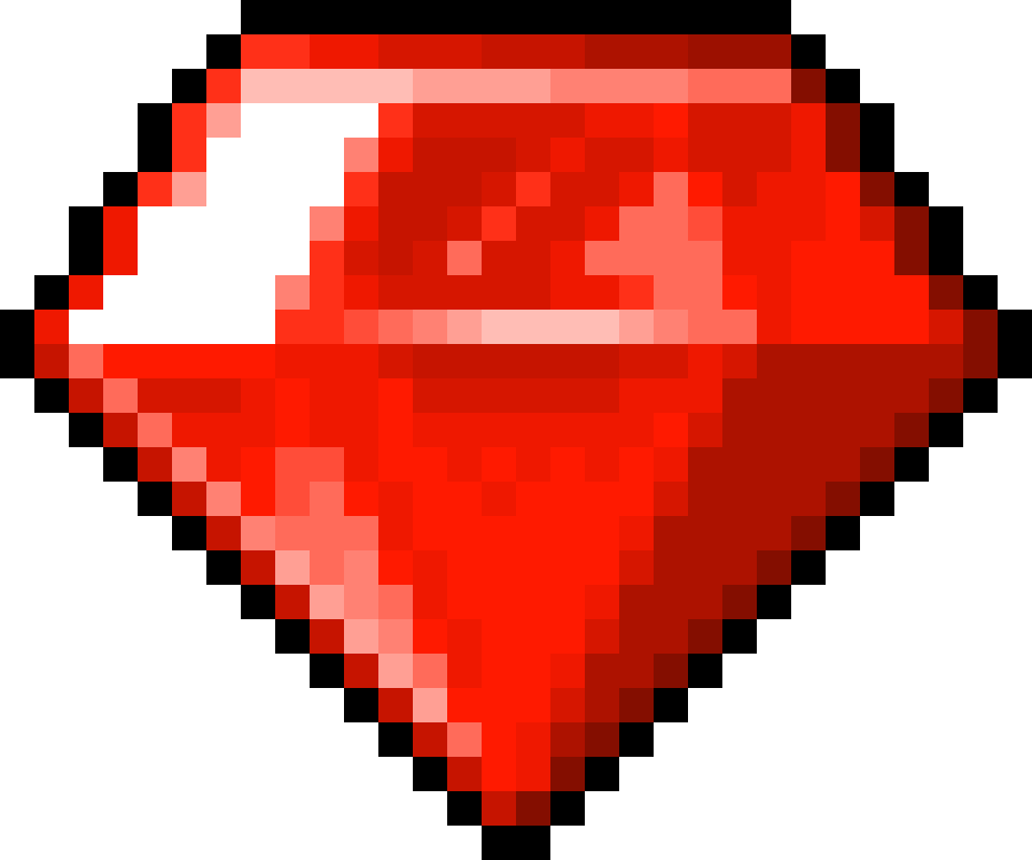 Heart sprite png. Chaos emerald red by