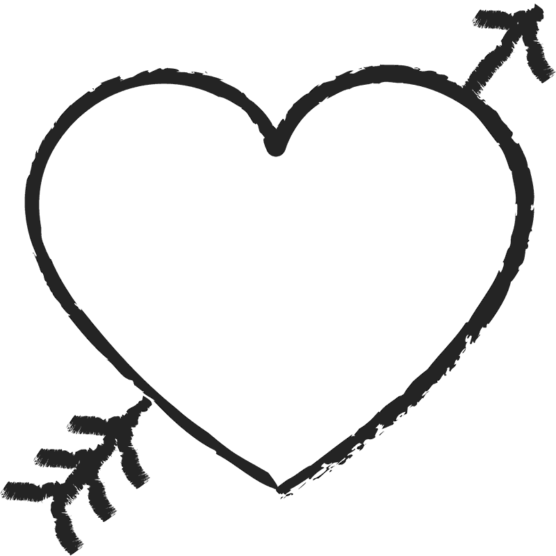 Heart stamp png. With arrow rubber stamps