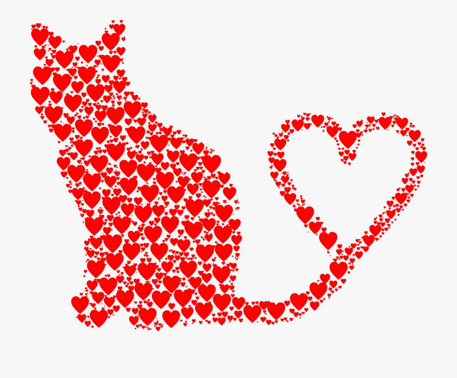 Heart tails. Silhouette tail big image