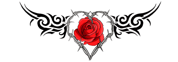Heart tattoo png. Gothic transparent stickpng
