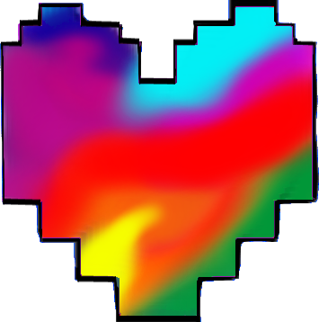 Heart undertale png. Multi color icon by