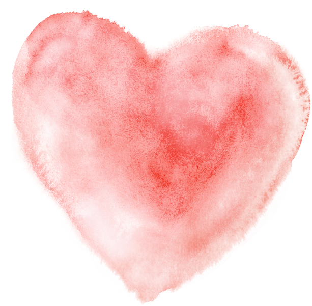 Heart watercolor png. Painting transprent free download