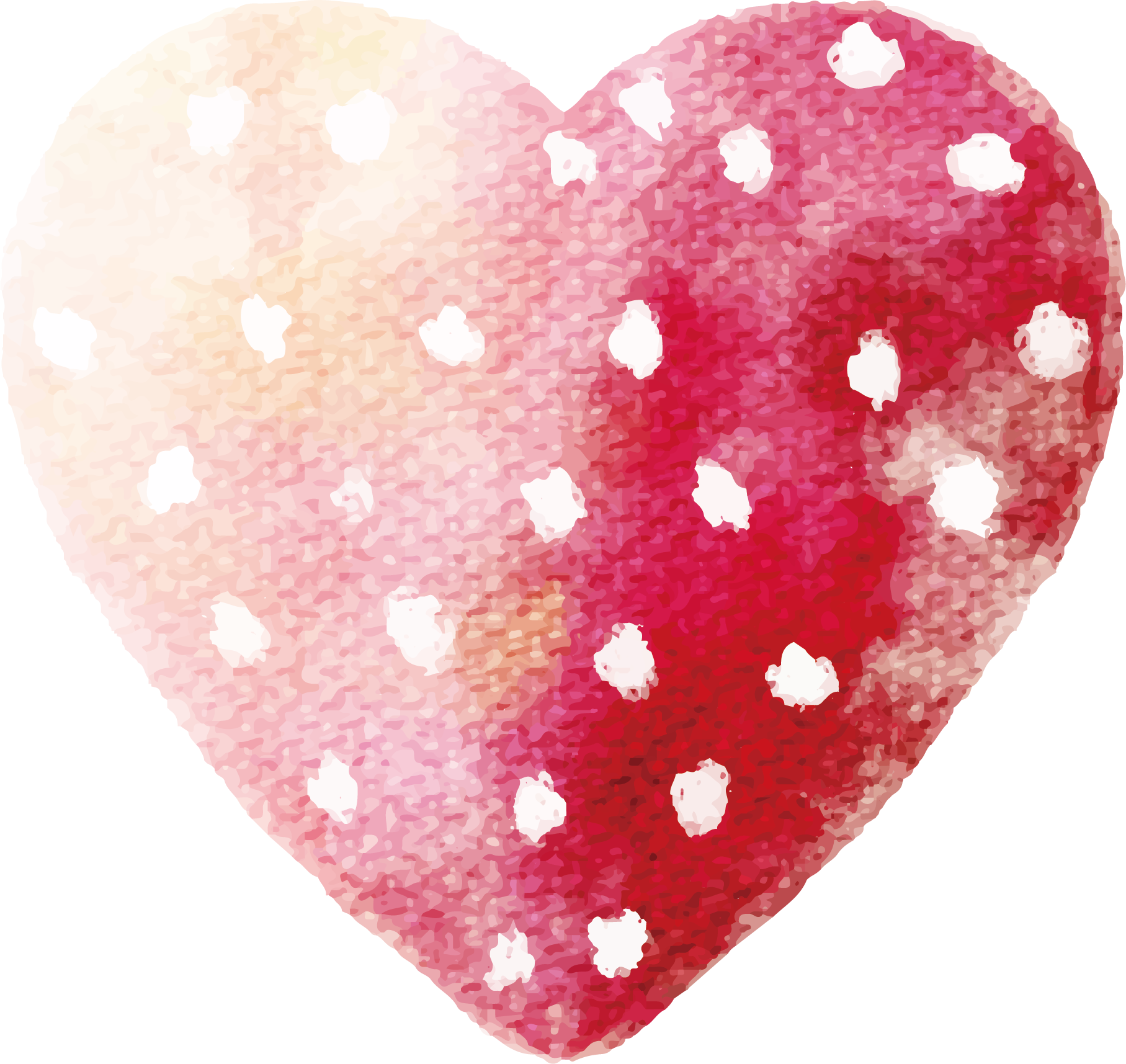 Heart watercolor png. Painting red transprent free