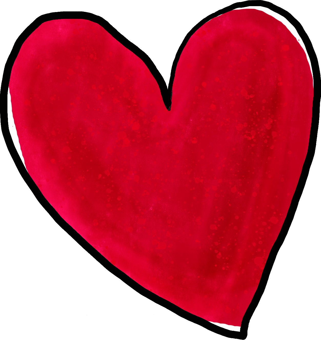 Heart watercolor png. Crimson in digital sproutinginsecond