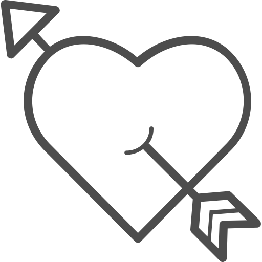 Arrow with heart png. Cupid love valenticons valentine