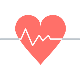 Heart with heartbeat png. Beat icon