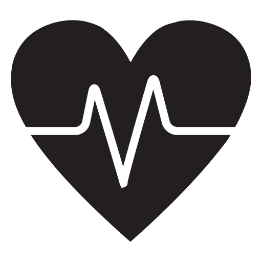 Heart beat png. Logo template with transparent