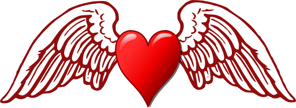 Wing svg traceable. Heart and wings hi