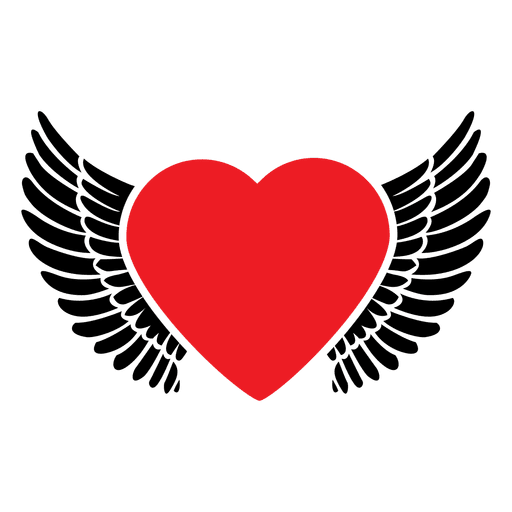 Heart with wings png. Logo transparent svg vector