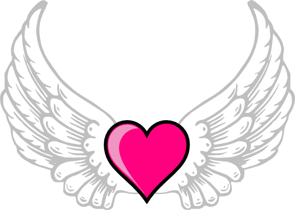 Heart with wings png. N pink clip art