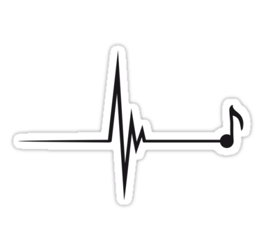 Heartbeat clipart music beat. Note pulse by panda