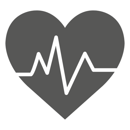 Heartbeat line clipart black and white png. Free heart icon download