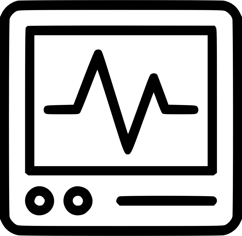 Heartbeat line clipart black and white png. Heart monitor pulse cacrdiology
