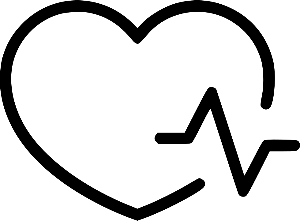 Heartbeat line png. Heart pulse svg icon