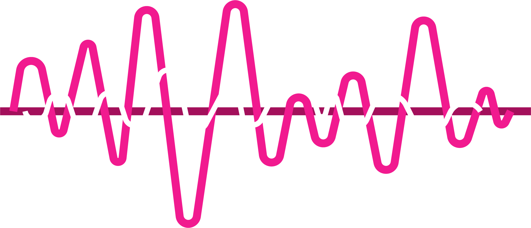Heartbeat lines png. Frequency sound icon line