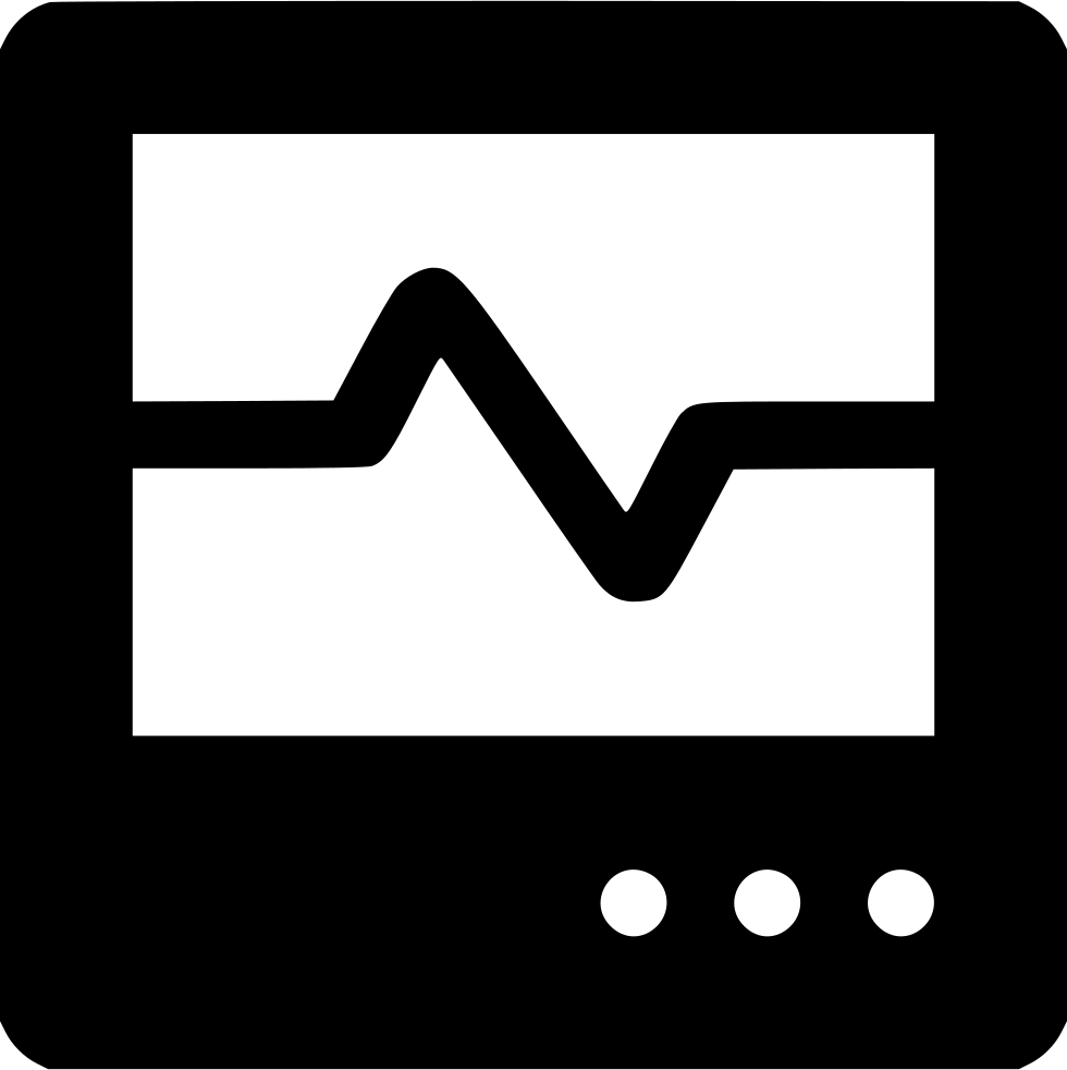 Heartbeat monitor png. Svg icon free download