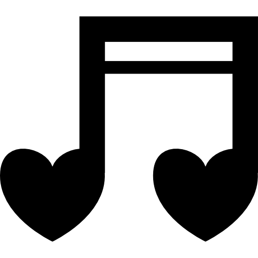 Heart music note png. Face rabbit variant shaped