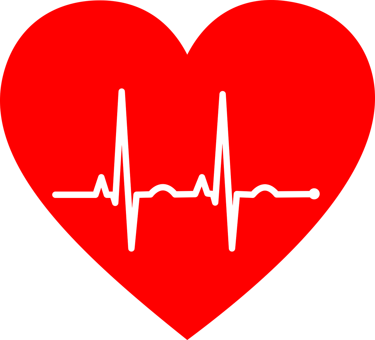Heartbeat with heart png. Can your beat the