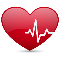 Heart with heartbeat png. Beat icon medical iconset