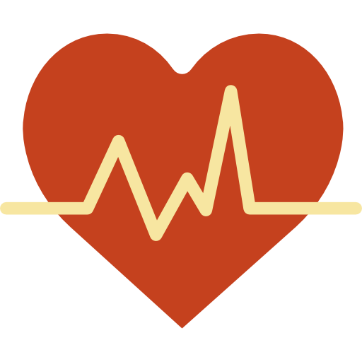 Heartbeat with heart png. Icon myiconfinder