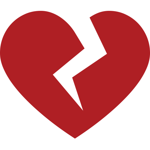Broken emoji for email. Facebook heart png jpg black and white download