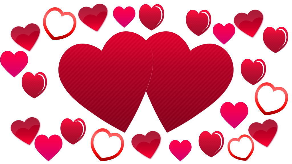 Hearts background png. Two plenty of love