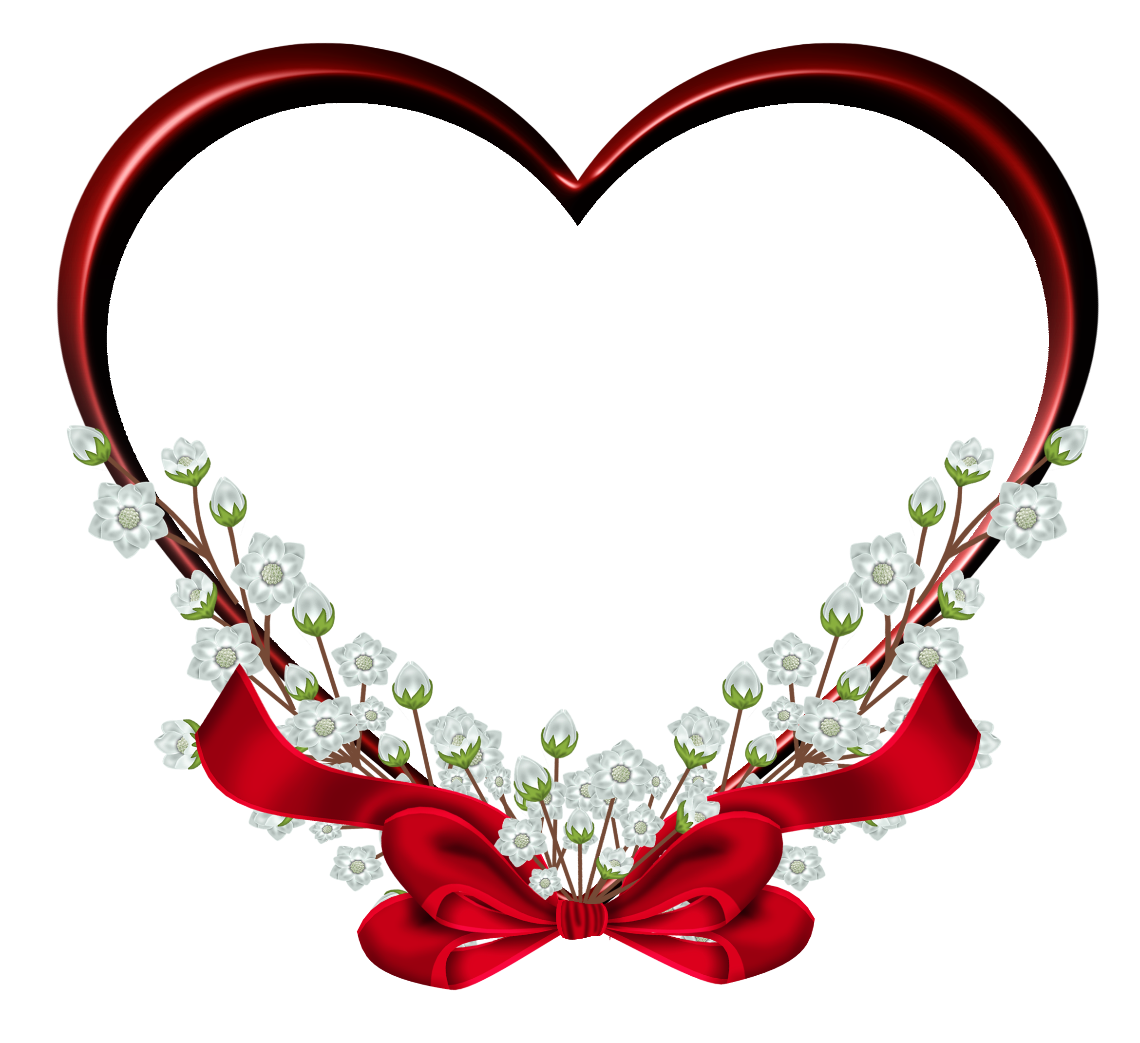 Transparent red decor clipart. Heart frame png vector black and white download