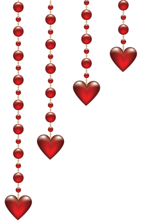 Valentine transparent red love harts. Download s day hanging