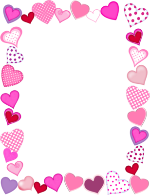 Hearts border png. Free heart download clip