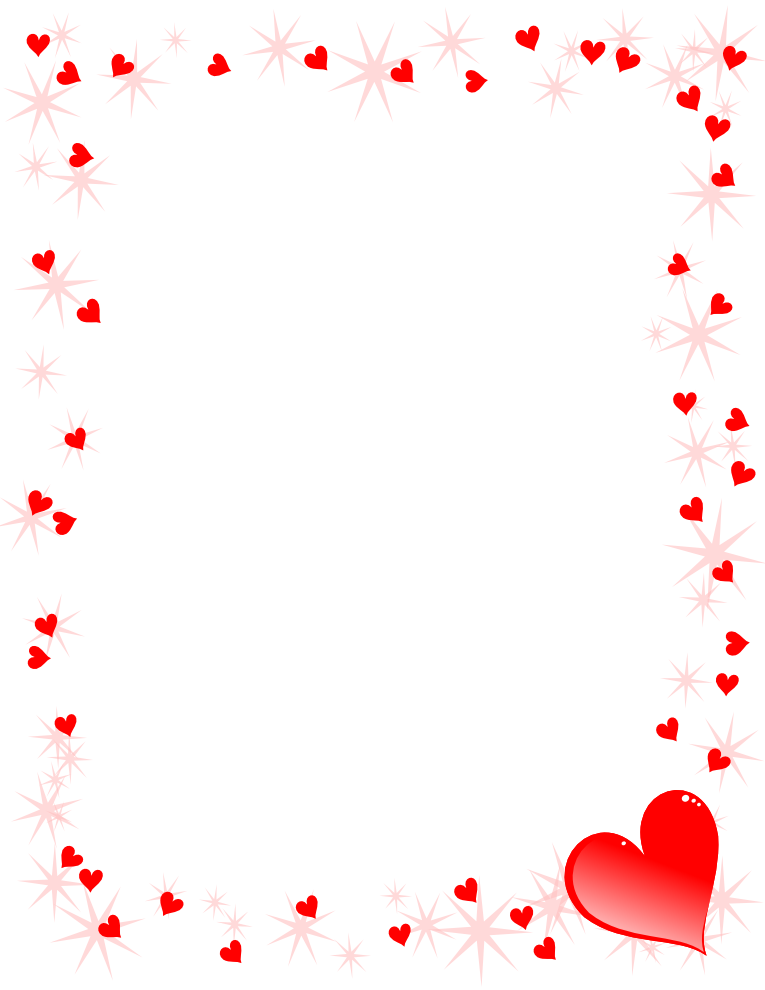 Hearts border png. Collection of pink