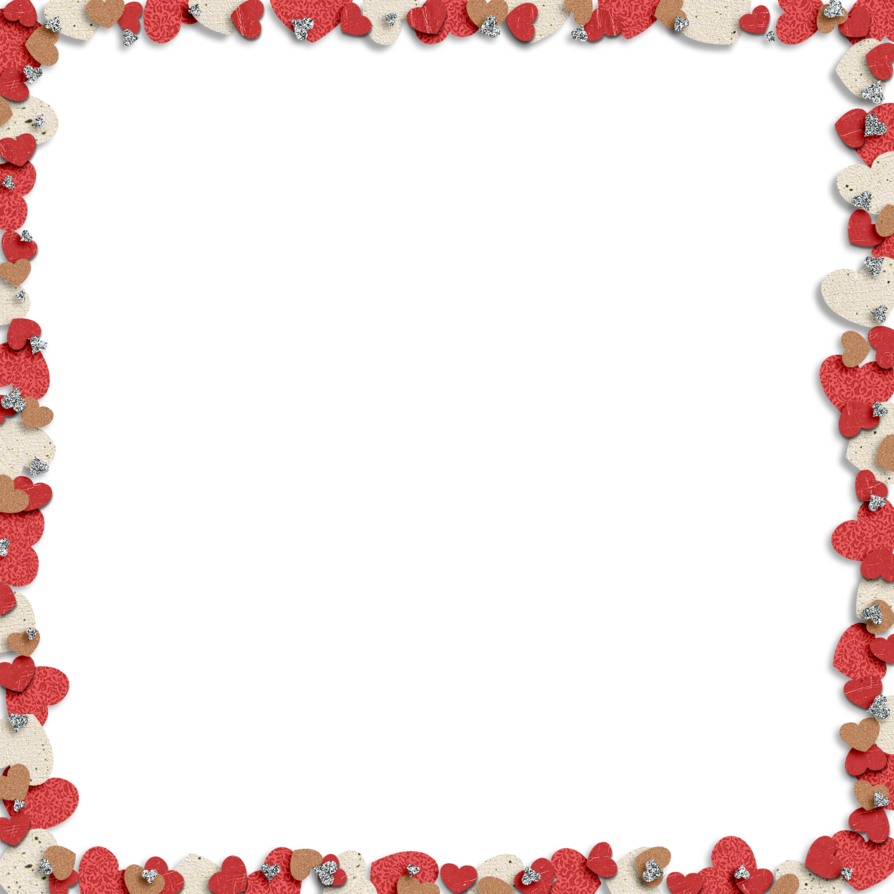 Hearts border png. Frame heart transparent pictures