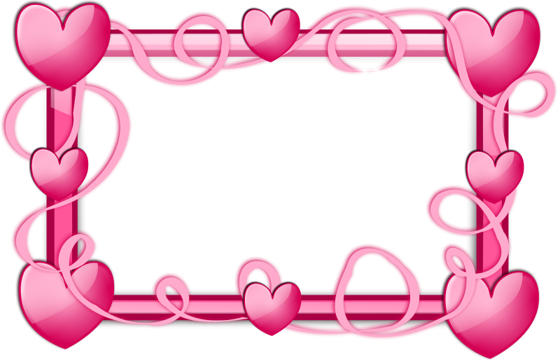 Hearts border png. Pink free stock photo