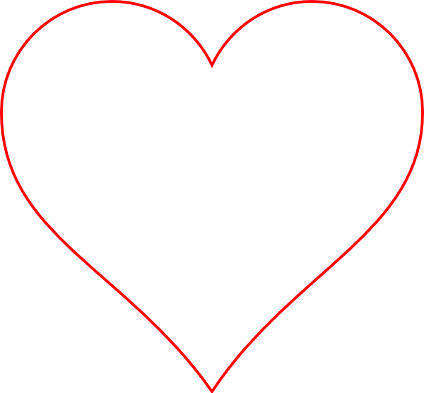 Hearts border png. Transparent heart red clip