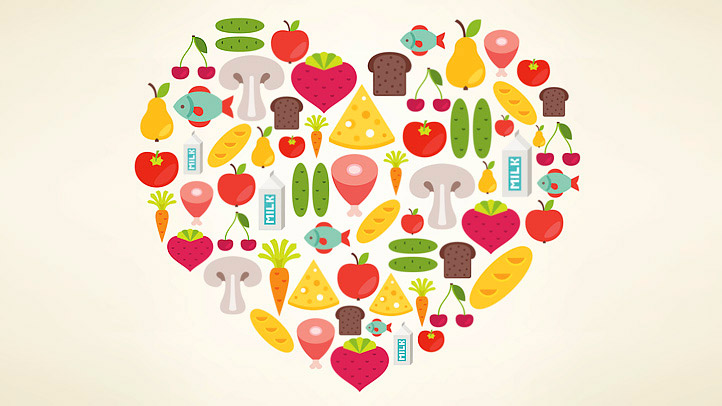 Hearts clipart food. Vegetables heart free fruits