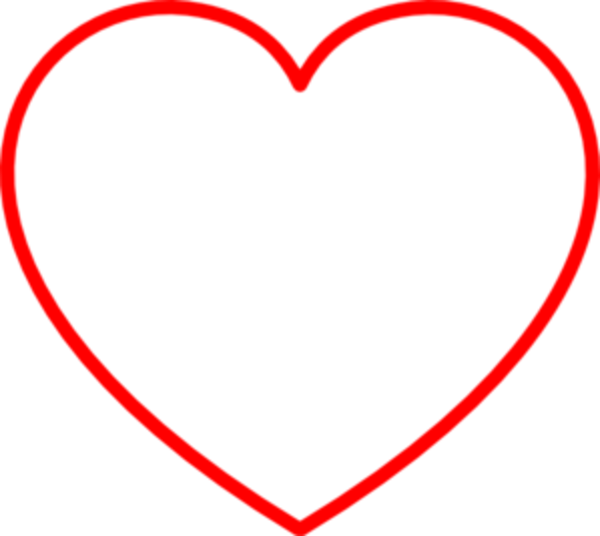 Hearts clipart outline. Red heart md free