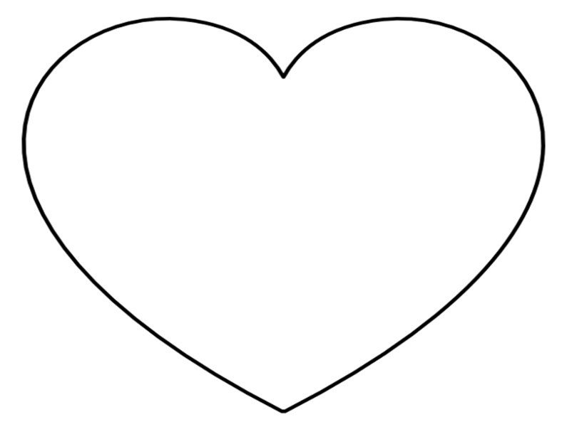 Hearts clipart outline. Heart black and white