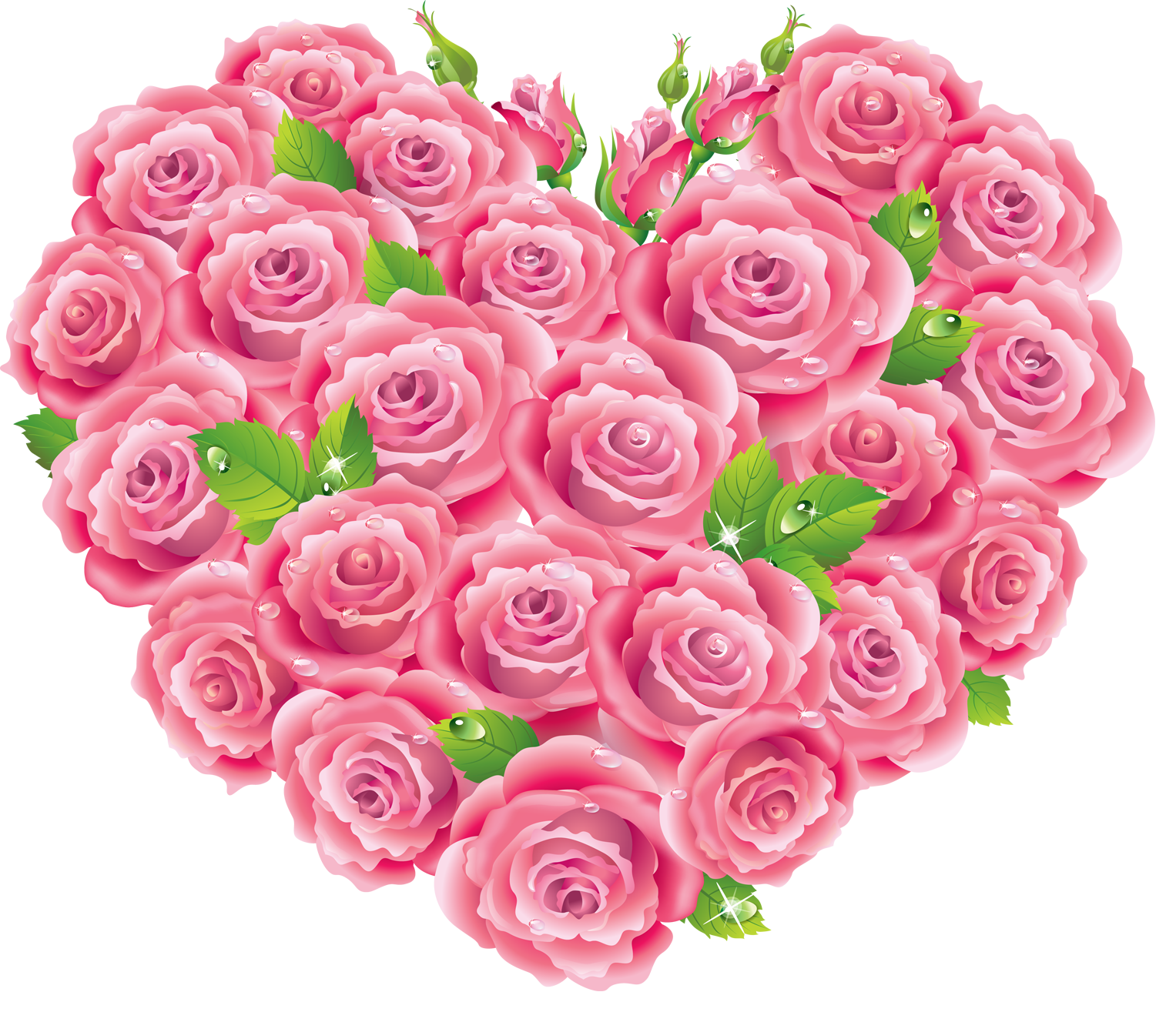 Transparent items pink. Roses heart clipart gallery