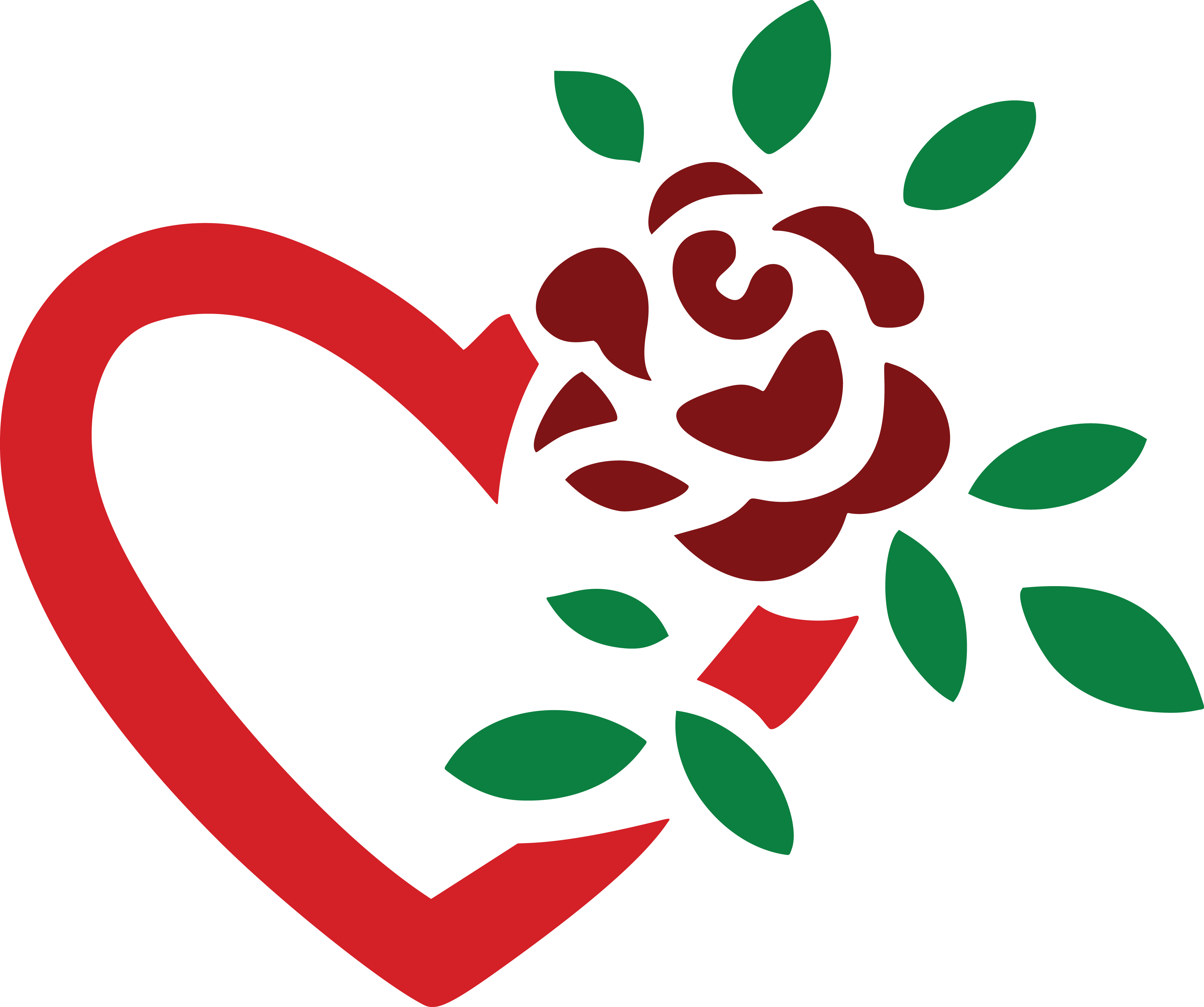Love clipart. Hearts and roses at