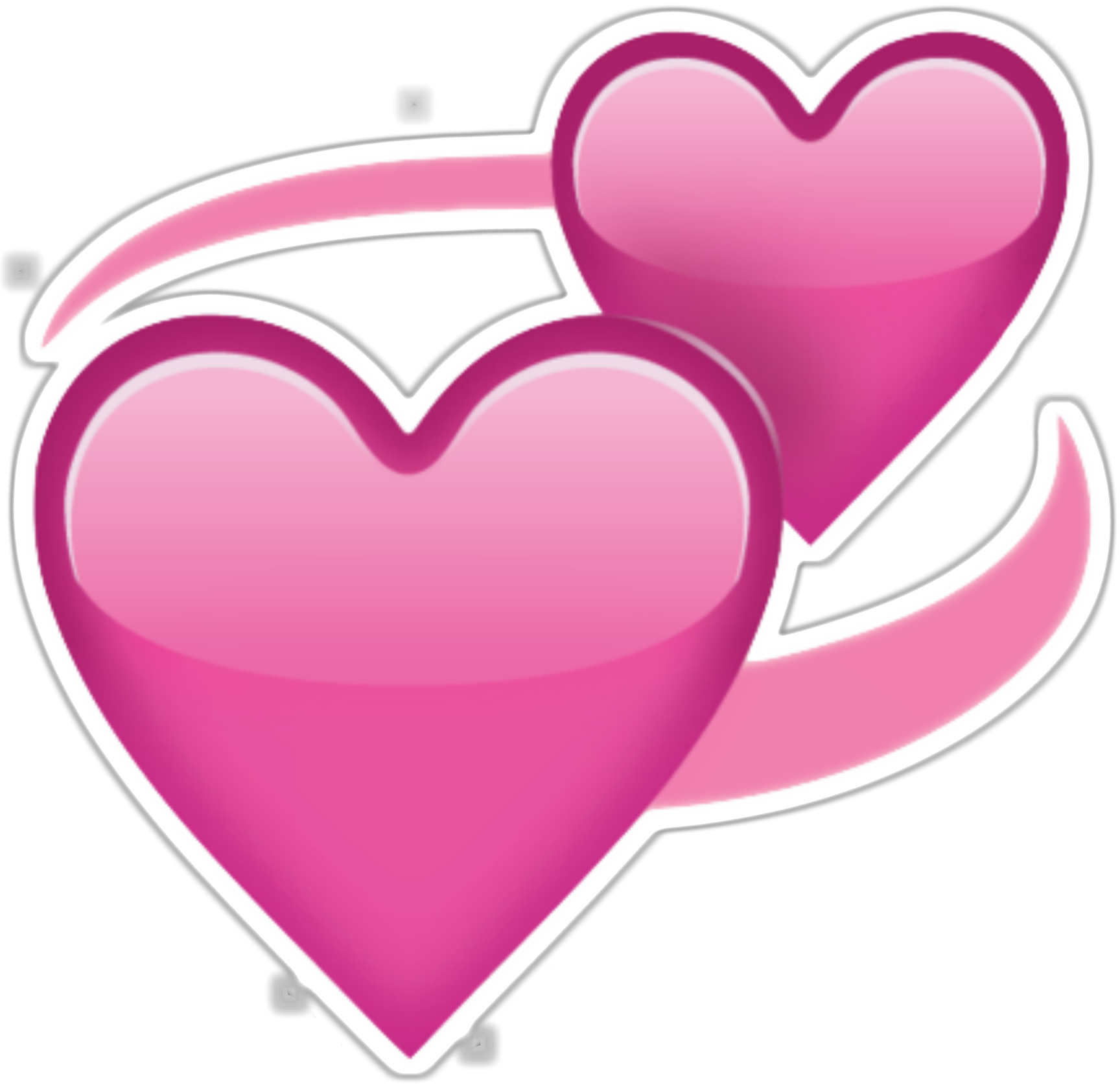 Heart png transparent pink. Two hearts emoji