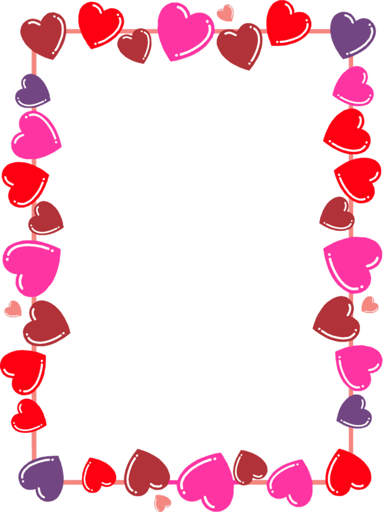Hearts frame png. Boarder by leiaalisonlavigne on